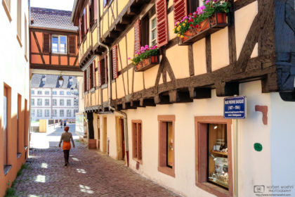 An impression from a mid-day walk on a pleasant early summer day in Colmar, France.