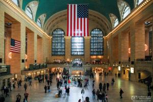 Daytime interior view of Grand Central Terminal in Manhattan, New York, USA.