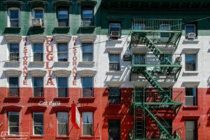 Climbable Italian Flag, Little Italy, Manhattan, New York, USA