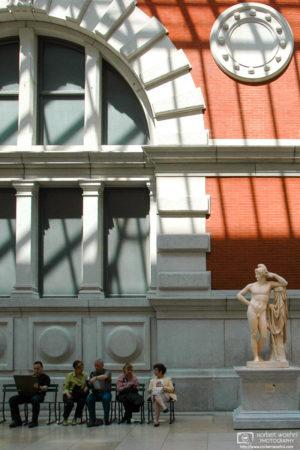 Visitors at the European Sculpture Court, Metropolitan Museum of Art, Manhattan, New York, USA.