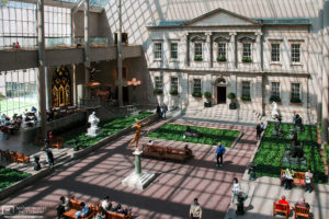 A view of the Charles Engelhard Court at the Metropolitan Museum of Art in New York City, USA.