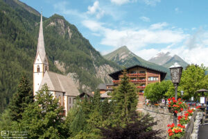 A view of St. Vincent Parish Church in Heiligenblut, the gateway town to Grossglockner on its Carinthia side.