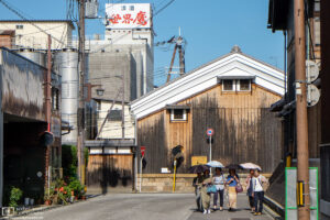 A walk around the sake breweries in Kyoto's Fushimi district, Japan's second-largest sake-producing area.