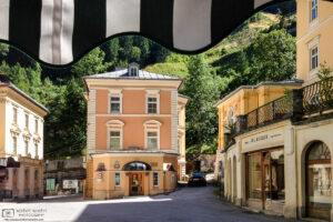 Belle Époque architecture in the historic center of Bad Gastein, in the Austrian state of Salzburg.