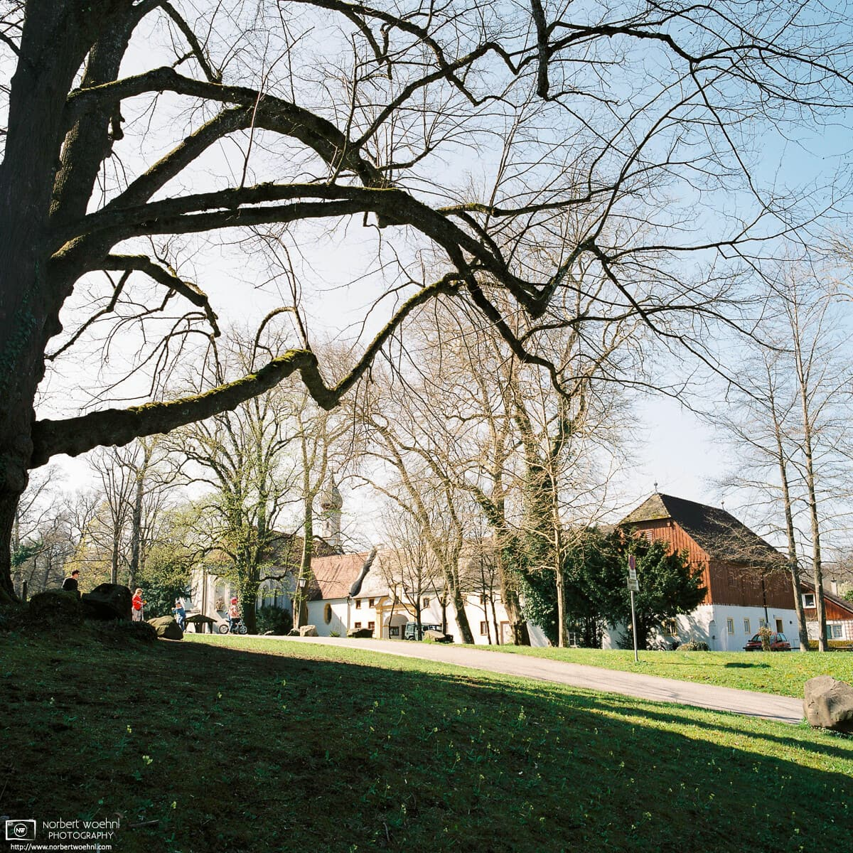 A nice spring day outside Bernried Monastery, located in close proximity to Lake Starnberg in Bavaria, Germany.