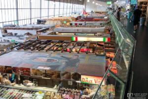 An interior view of Kleinmarkthalle, a 1,500-sq/m indoor market hall in Frankfurt am Main, Germany.