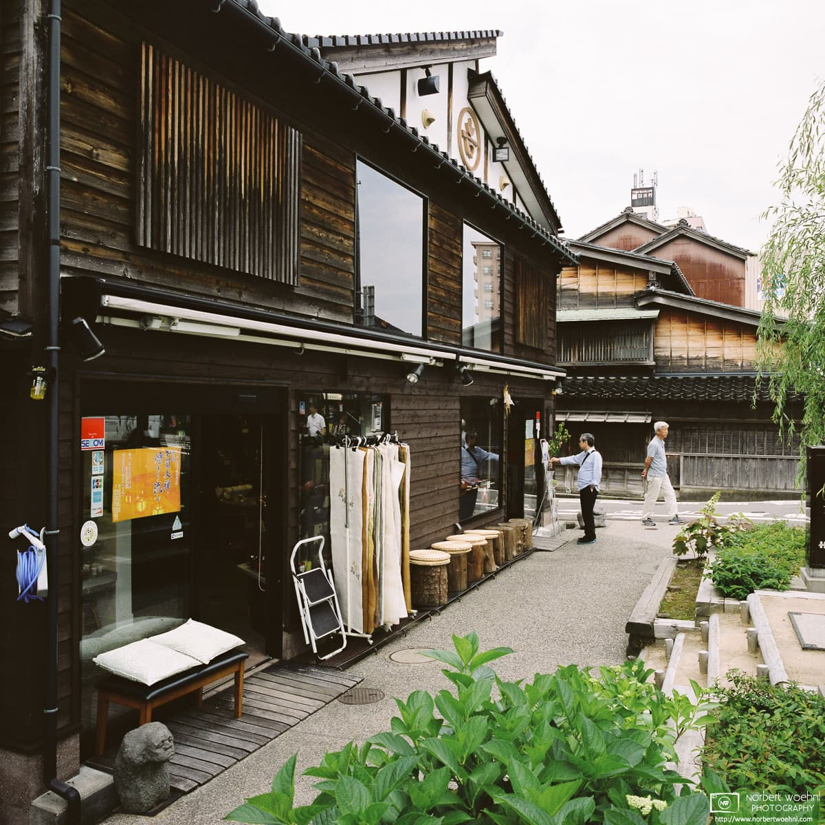 A daily life impression from this corner of historic buildings at Kanazawa in Ishikawa Prefecture, Japan.