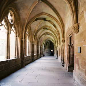 A view along the cloister at Maulbronn Monastery in southwestern Germany.