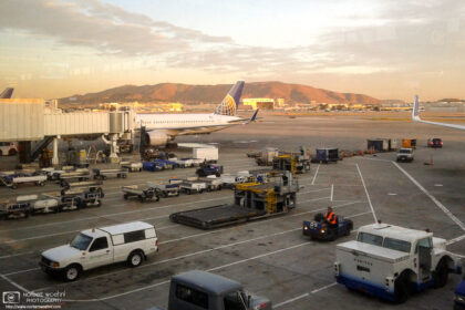 Early morning mood prior to a departure from San Francisco International Airport (SFO) in California.