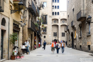 An impression from a walk around Barri Gòtic, the historic center of the old city of Barcelona, Spain.