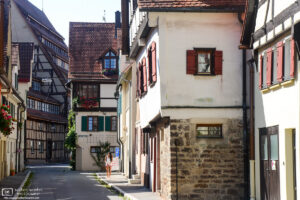 A travel back in time with these beautiful half-timbered buildings along Bachgasse in Tübingen, Germany.